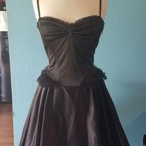 Black Sz 10 Gothic Lacey Betsey Johnson Dress